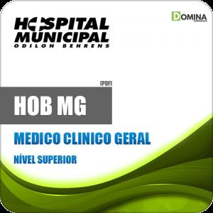 Apostila Concurso Público HOB MG 2020 Médico Clínico Geral