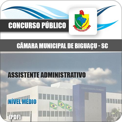 Apostila Câmara Biguaçu SC 2020 Assistente Administrativo