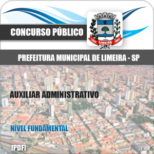 Apostila Concurso Limeira SP 2020 Auxiliar Administrativo