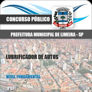 Apostila Concurso Limeira SP 2020 Lubrificador de Autos