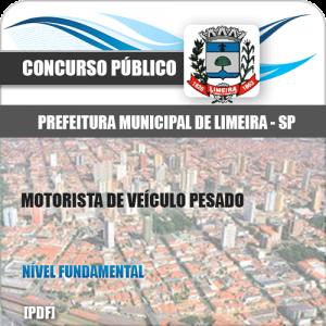 Apostila Concurso Limeira SP 2020 Motorista de Veículo Pesado