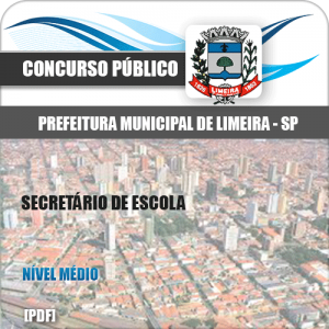 Apostila Concurso Limeira SP 2020 Secretário de Escola