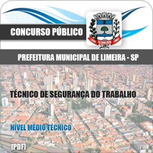Apostila Limeira SP 2020 Técnico de Segurança do Trabalho