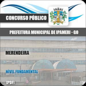 Apostila Concurso Público Pref Ipameri GO 2020 Merendeira