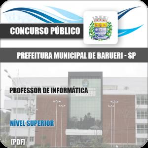 Apostila Concurso Pref Barueri SP 2020 Professor de Informática