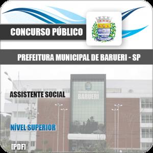 Apostila Concurso Pref Barueri SP 2020 Assistente Social