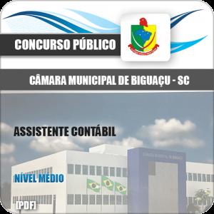 Apostila Câmara Biguaçu SC 2020 Assistente Contábil