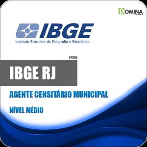 Apostila Concurso IBGE RJ 2020 Agente Censitário Municipal ACM