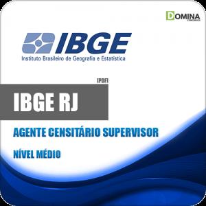 Apostila Concurso IBGE RJ 2020 Agente Censitário Supervisor ACS