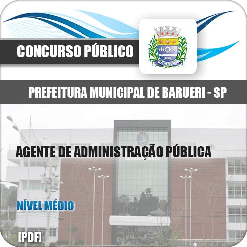 Apostila Barueri SP 2020 Agente de Administração Pública