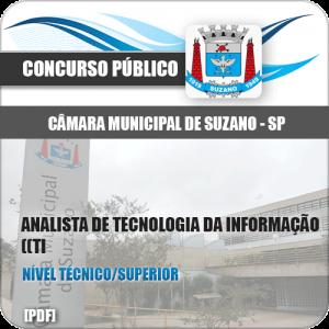 Apostila Câmara Suzano SP 2020 Analista Tec da Informação