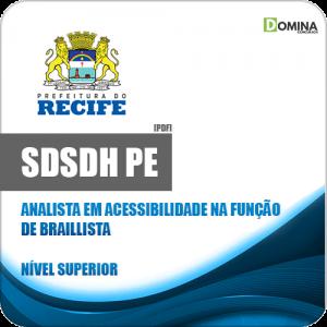 Apostila SDSDH Recife PE 2020 Analista Função de Braillista