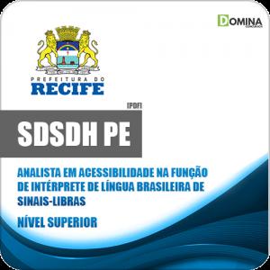 Apostila SDSDH Recife PE 2020 Intérprete de Sinais Libras