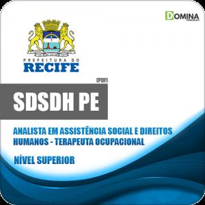 Apostila Concurso SDSDH Recife PE 2020 Terapeuta Ocupacional