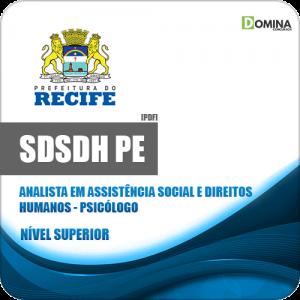 Apostila Concurso SDSDH Recife PE 2020 Analista Psicólogo
