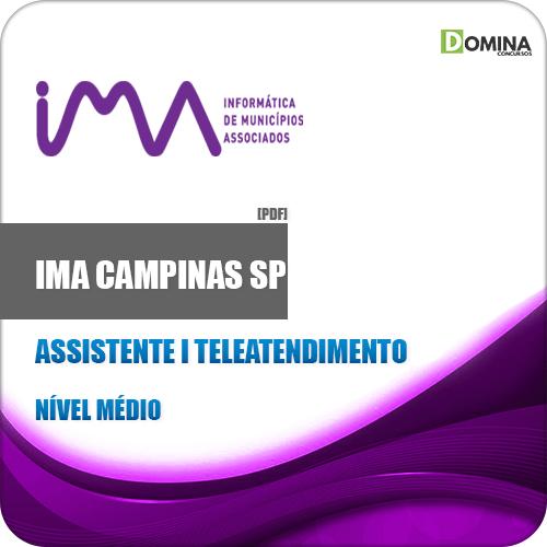 Apostila IMA Comapinas SP 2020 Assistente I Teleatendimento