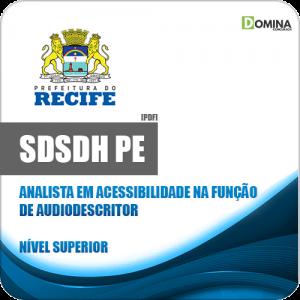 Apostila SDSDH Recife PE 2020 Analista Função Audiodescritor