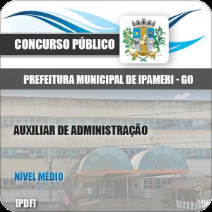 Apostila Concurso Pref Ipameri GO 2020 Auxiliar de Administração