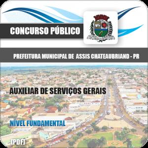 Apostila Assis Chateaubriand PR 2020 Auxiliar de Serviços Gerais