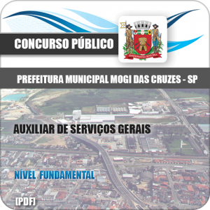 Apostila Mogi das Cruzes SP 2020 Auxiliar de Serviços Gerais