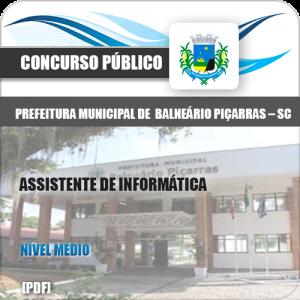 Apostila Balneário Piçarras SC 2020 Assistente de Informática