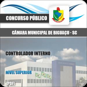 Apostila Câmara Biguaçu SC 2020 Controlador Interno