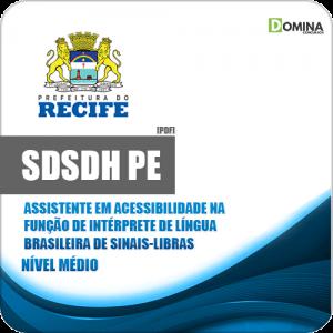 Apostila SDSDH Recife PE 2020 Assistente Intérprete de Sinais