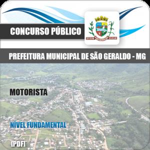Apostila Concurso Pref São Geraldo MG 2020 Motorista