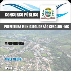 Apostila Concurso Pref São Geraldo MG 2020 Merendeira