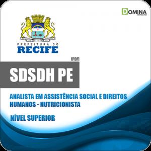Apostila Concurso SDSDH Recife PE 2020 Analista Nutricionista