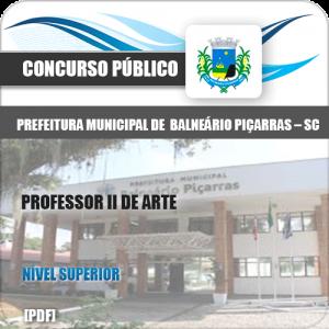 Apostila Concurso Balneário Piçarras SC 2020 Professor de Arte