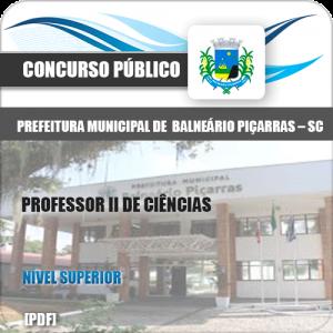 Apostila Pref Balneário Piçarras SC 2020 Professor de Ciências