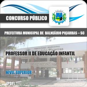 Apostila Balneário Piçarras SC 2020 Professor Educação Infantil