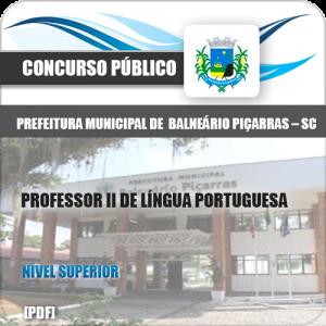 Apostila Balneário Piçarras SC 2020 Professor Língua Portuguesa