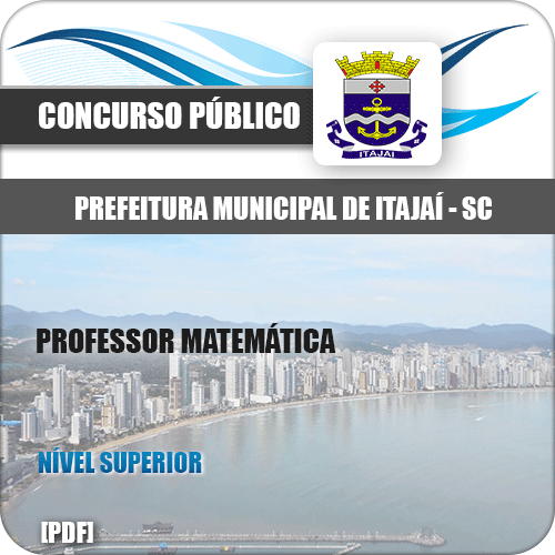 Apostila Prefeitura Itajaí SC 2020 Professor de Matemática
