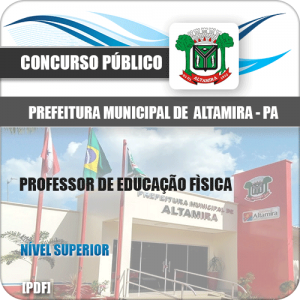 Apostila Pref Altamira PA 2020 Professor de Educação Física
