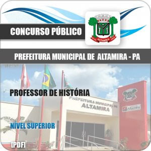 Apostila Prefeitura Altamira PA 2020 Professor de História