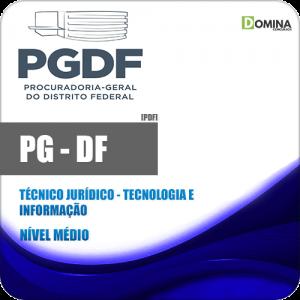 Apostila PG DF 2020 Técnico Jurídico Tecnologia e Informação