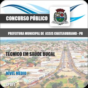 Apostila Assis Chateaubriand PR 2020 Técnico em Saúde Bucal