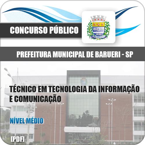 Apostila Pref Barueri SP 2020 Técnico TI e Comunicação