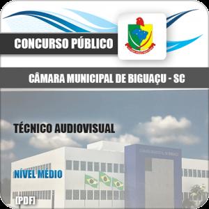 Apostila Câmara Biguaçu SC 2020 Técnico Audiovisual