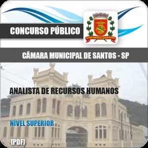 Apostila Câmara de Santos 2020 Analista Recursos Humanos