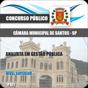 Apostila Câmara de Santos 2020 Analista em Gestão Pública