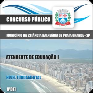 Apostila Praia Grande SP 2020 Atendente de Educação I