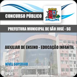 Apostila São José SC 2020 Auxiliar Ensino Educação Infantil