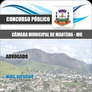 Apostila Câmara Municipal Mantena MG 2020 Advogado