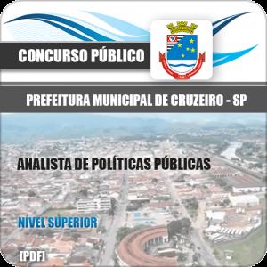 Apostila Pref Cruzeiro SP 2020 Analista de Políticas Públicas