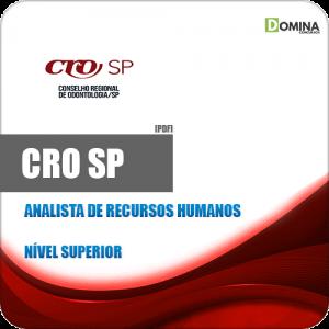 Apostila CRO SP 2020 Analista de Recursos Humanos