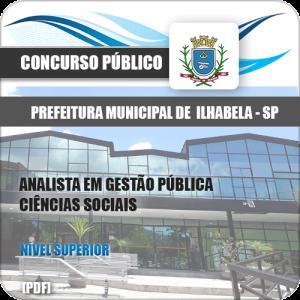 Apostila Concurso Ilhabela 2020 Analista Ciências Sociais