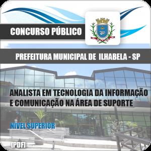 Apostila Ilhabela SP 2020 Analista Comunicação Suporte